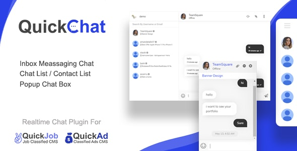 Quickchat realtime AJAX chat messaging plugin