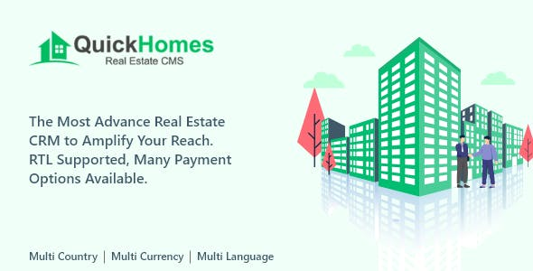 QuickHomes - Real Estate CMS PHP Script
